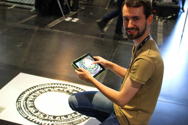 """Sprout the Word,"" an augmented reality experience, FMX Stuttgart 2014 